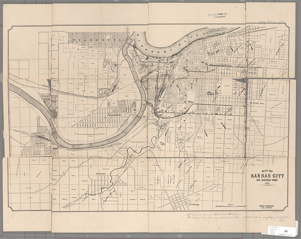 Maps of Missouri Kansas Cities Towns Map on