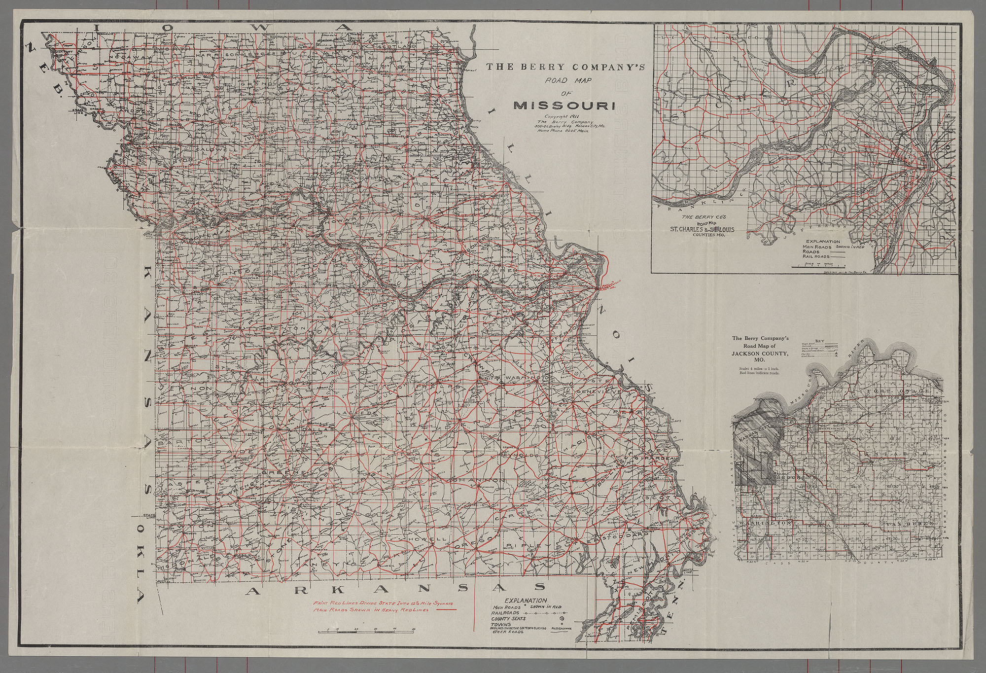 St Louis Public Library Maps Of Missouri - Missouri road map