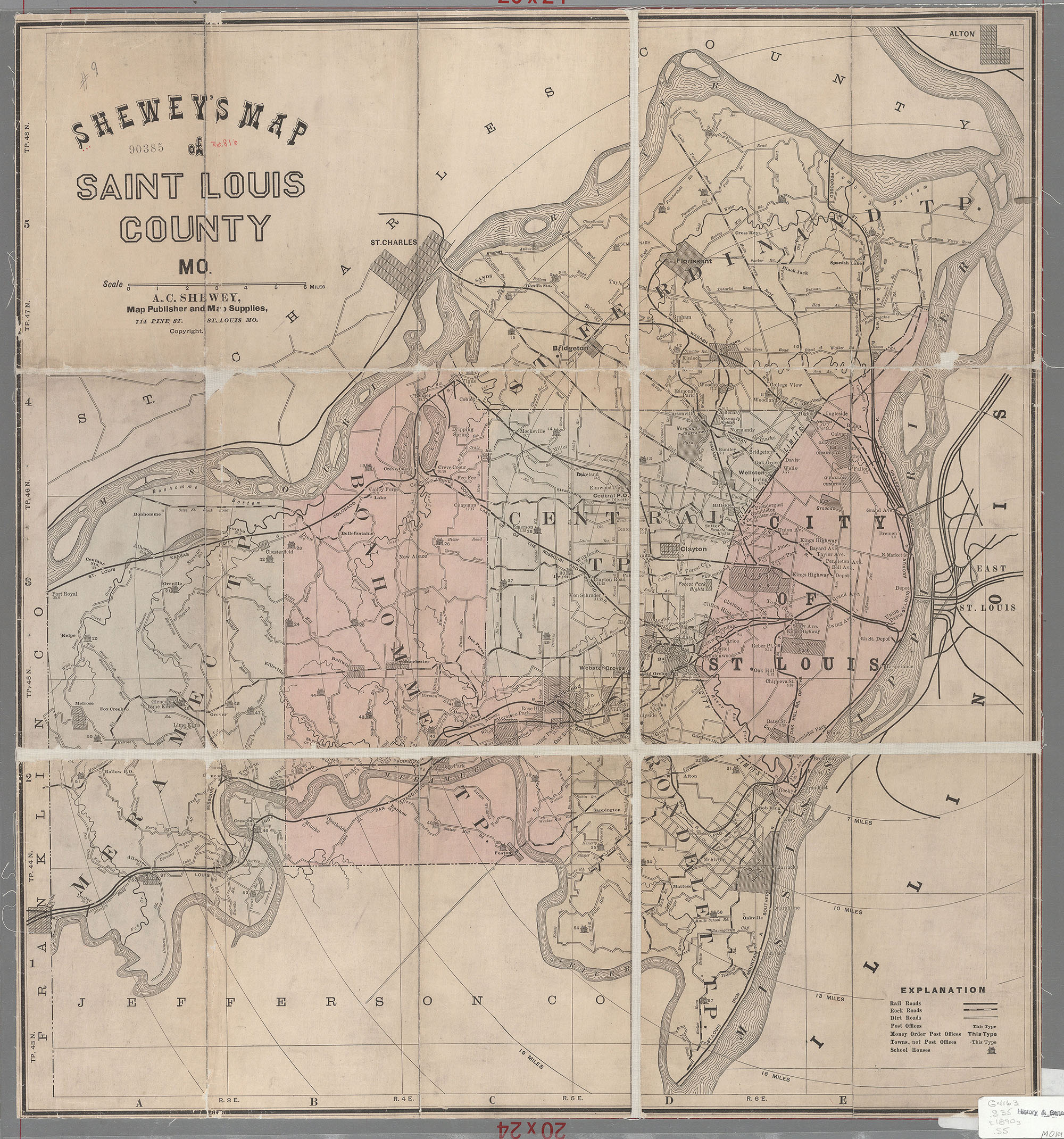 Maps Of Missouri - Missouri map county lines