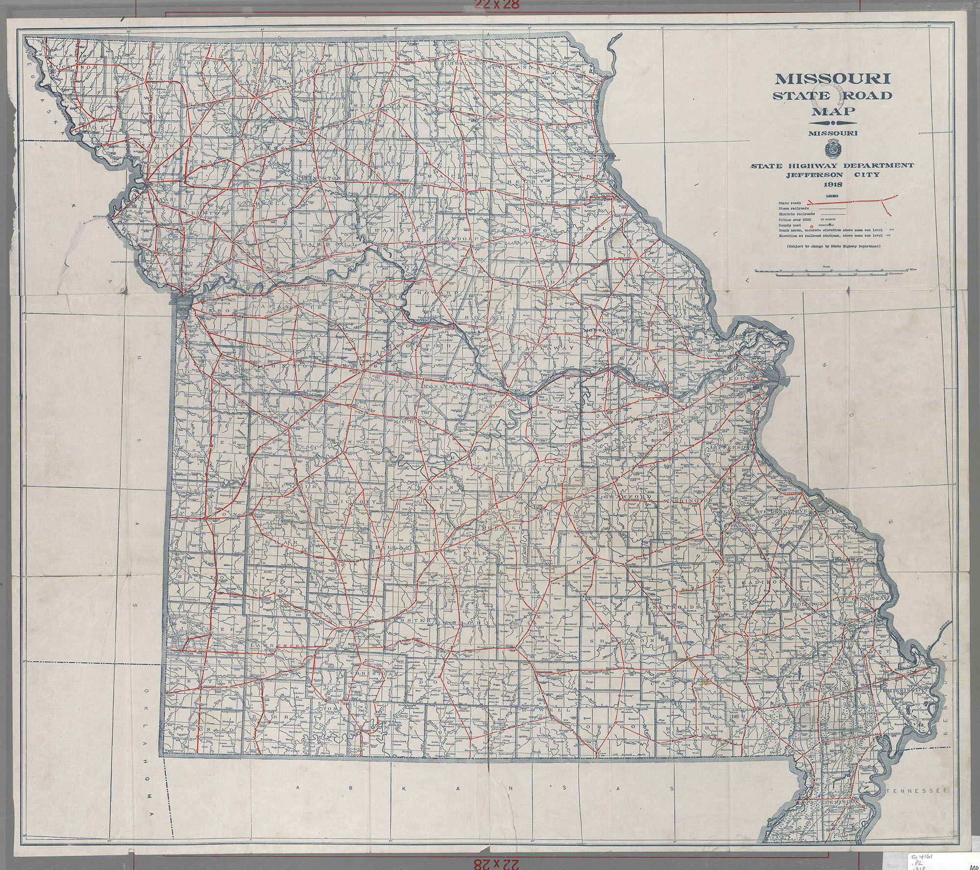 Maps Of Missouri - Missouri state map with cities
