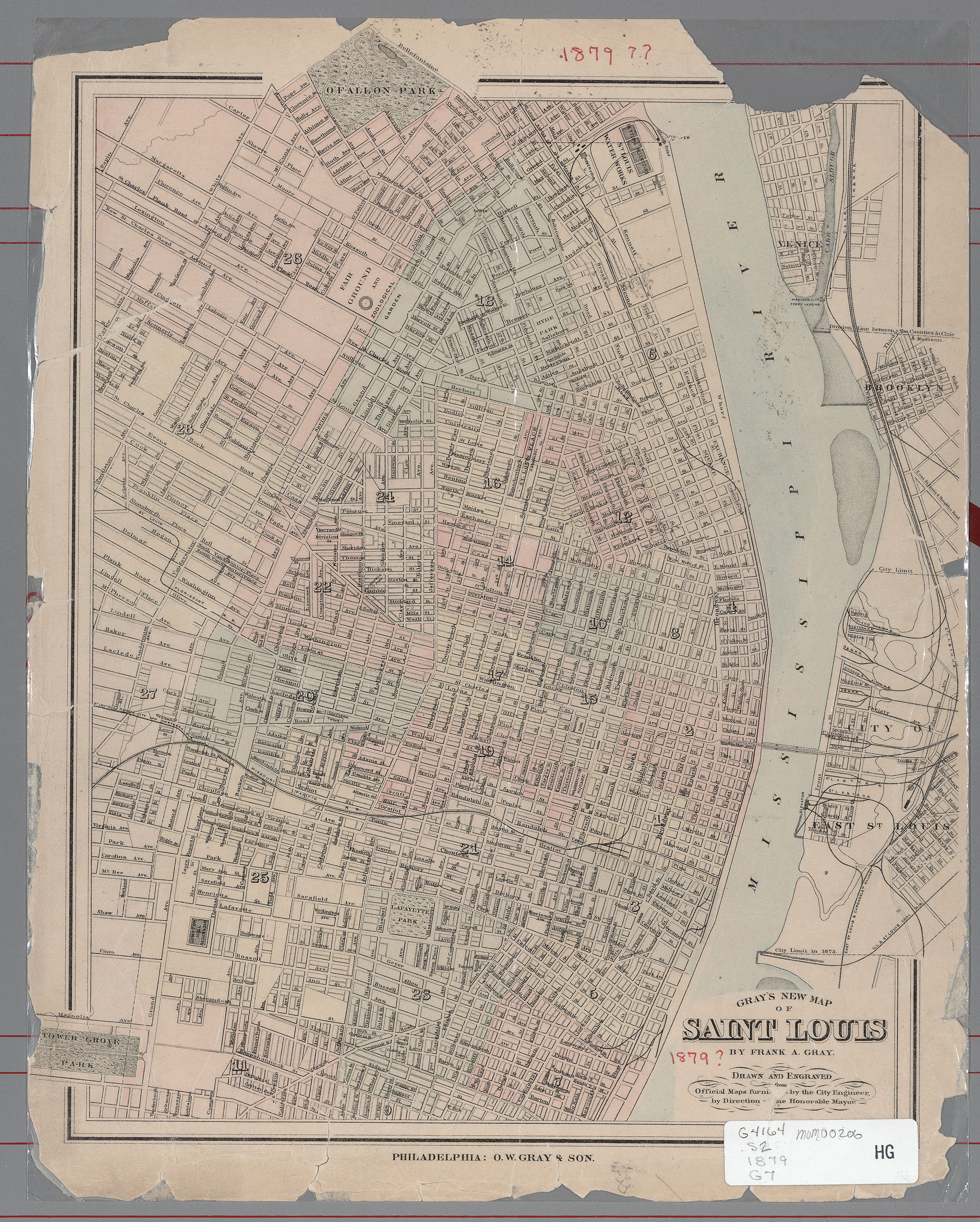 Includes Venice Brooklyn And City Of East St Louis Saint Clair County Illinois Origin From Gray S Atlas Of The United States